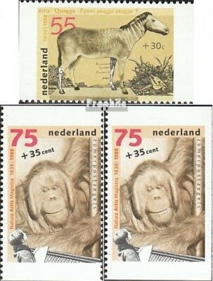 Topical Stamps Europe Adroit Netherlands 1339c-1341d,e Mint Never Hinged Mnh 1988 Amsterdamer Zoo