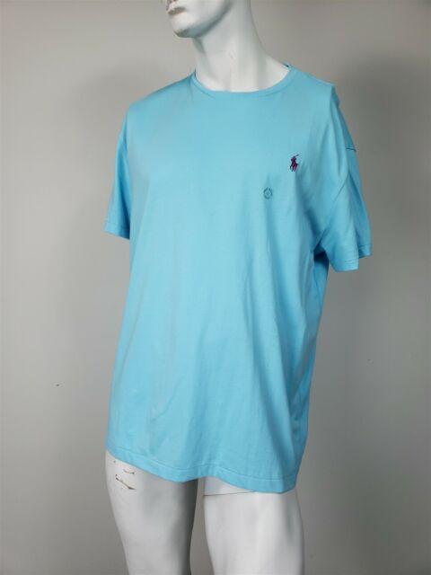 POLO RALPH LAUREN Classic Fit Crew Neck T-Shirt Light Blue sz L NWT $39.50