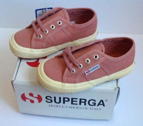 New Girls Shoes Superga Jcot Classic Dusty Rose Pink Canvas Shoes Size 9.5 EUR27
