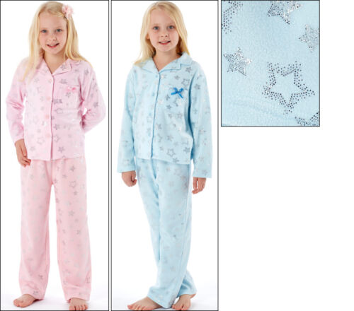 Girls To The Moon And Back Revere Collar Pyjama Set 100/% Polyster Foil Print