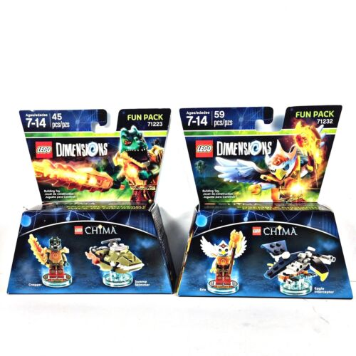 LEGO DIMENSIONS CHIMA LOT OF 2 Fun Packs Eris Cragger 71232 71223 FREE SHIP