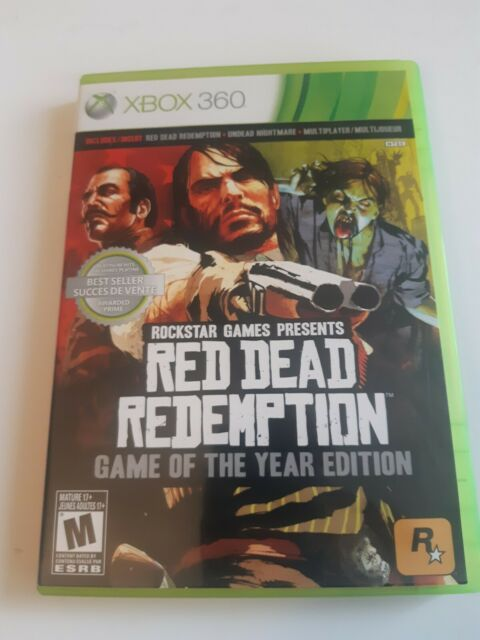 Red Dead Redemption: Game of the Year Edition (Xbox 360) Complete W/Manual & Map