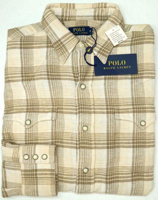 New Polo Ralph Lauren Mens Long Sleeved Button Down Mesh Dress Shirt Cotton $145