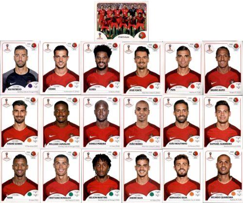 PANINI WM 2018 Russia Sticker-squadra pacchetto Portogallo Sticker 113-131