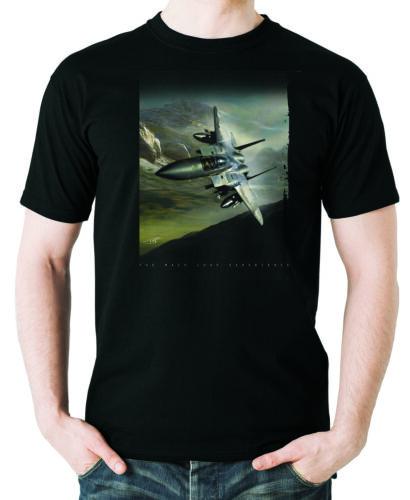 "Flyingraphics aviation Themed T SHIRT /'F15-Aigle Mach Boucle/"""
