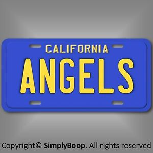 Los-Angeles-Anaheim-Angels-California-MLB-Baseball-Aluminum-License-Plate-Tag