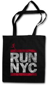 RUN NYC STOFFTASCHE EINKAUFSTASCHE New York City Run Fun DMC Marathon Letters