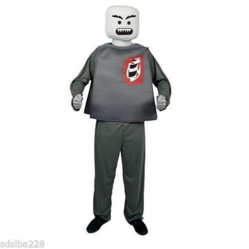 NWT ADULT LEGO MAN R BLOCKHEAD HALLOWEEN MORPH COSTUME VAMPIRE ZOMBIE