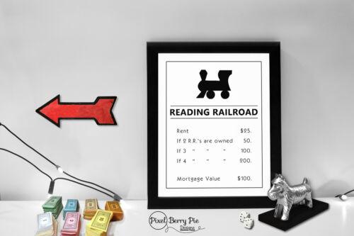 "Enlarged Artwork Game Board Property Title Deeds Monopoly Art Print 8/""x10/"""