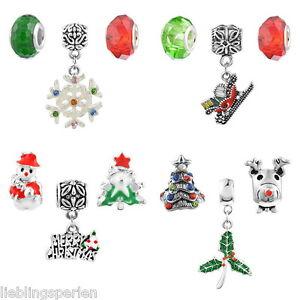 L-P-3-Mix-Zwischenperlen-Perlen-Spacer-Beads-European-Weihnachten-Strass-M17486