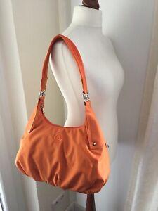 Verkauf Einzelhändler Mode-Design neue Produkte für Details zu Bogner Handtasche Hobo Neu Orange Tasche Nylon Schultertasche  Sommer