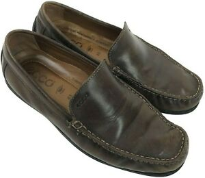 b40acc377024 ECCO Mens Driving Shoes EUR 43 US 9-9.5 Loafers Slip On Moccasins ...