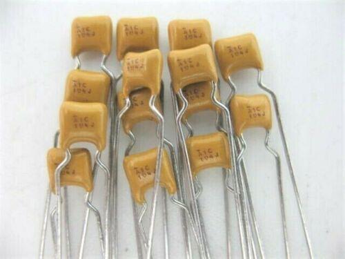 25pcs .1uF 5/% @ 100V AVX 104 ceramic MULTILAYER MONOLITHIC MLCC capacitor