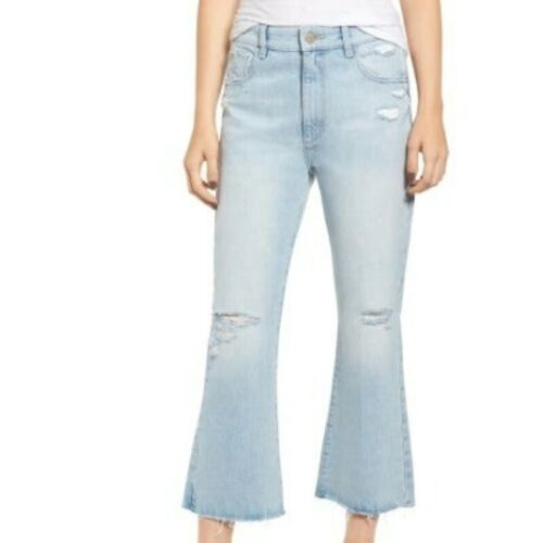 DL1961 HIGH RISE CROP FLARE JEANS