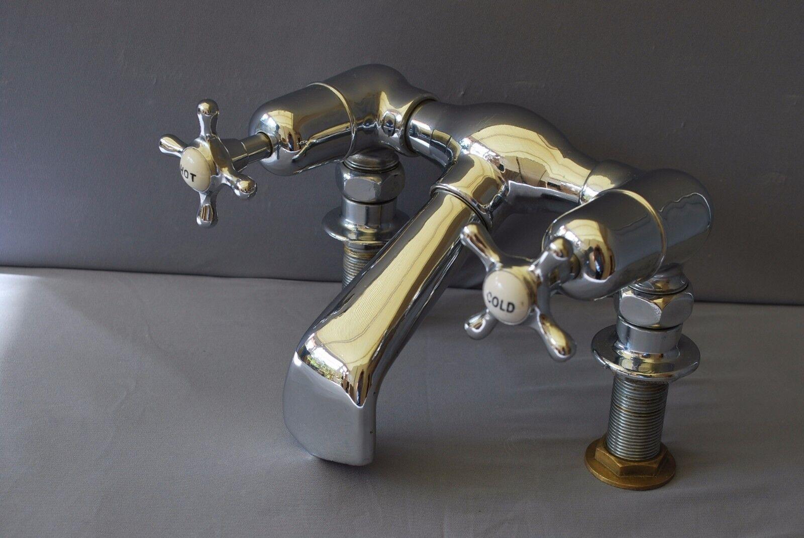 Ancien Chrome Bain Mitigeur robinets salle de bains robinets Reclaimed entièrement rénové robinets