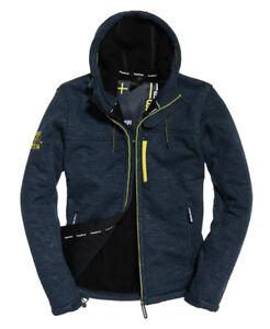 New Mens Superdry Hooded Winter SD-Windtrekker Jacket Dark Navy Marl