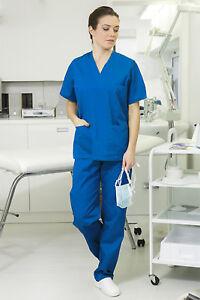 Divisa Sanitaria Donna Casacca Pantaloni Ospedale Infermiera Completo Estetica