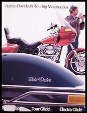 FXRT FLHTC FLH FLTC Electra Tour Sport Glide 1985 Harley Davidson Brochure