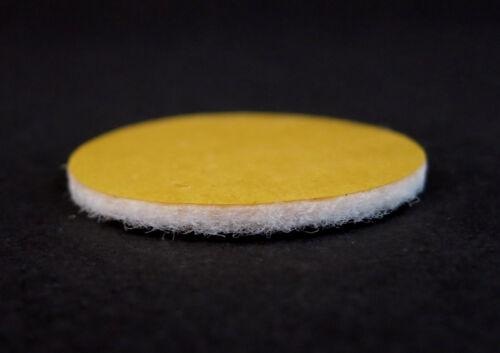 62mm Filzgleiter rund weiss Möbelgleiter 2mm stark selbstklebend Ø 15mm