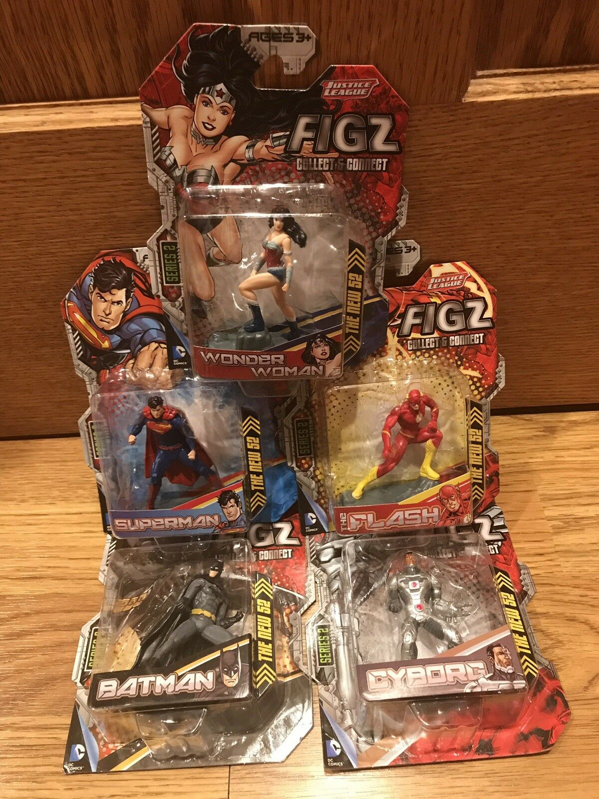 Justice League Figz Series 2 Action Figure Flash Wonder Woman Cyborg Superman DC