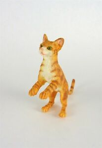 Miniature Brown Striped Cat Begging//Hind Legs DOLLHOUSE Miniatures 1:12 Scale