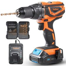 """VonHaus 20V MAX Cordless 1/2"""" Hammer Drill Driver with Variable Speed 0-1650 LED"""