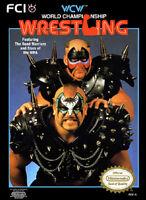 Nintendo Nes Wcw Wrestling Box Cover Photo Poster 8.5x11 Game Room