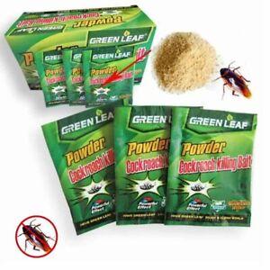 10-Green-Leaf-poudre-Cafard-tueur-Appat-pour-piege-de-mise-a-mort-Pest-Control