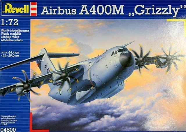 Airbus A400M  Grizzly    - Revell - 04800 - 1 72    Diversified In Packaging  77338c