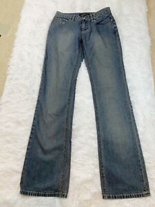 Club-Monaco-Women-s-Denim-Jeans-Pantalons-Medium-Blue-Staight-Leg-Size-4