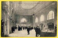 cpa 10 - TROYES Nouvelle GARE SNCF Salle des PAS PERDUS Commerce Livres Cartes