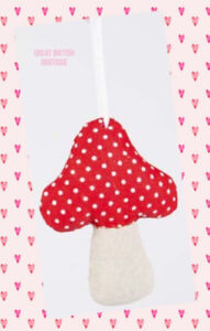 Cute-amp-Quirky-Fairy-toadstool-Red-Spotted-Fabric-Hanging-Decoration-Sass-amp-Belle