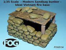 1/35 Scale  - Modern Sandbag bunker – Ideal Vietnam fire base