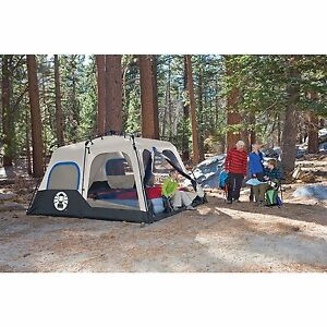 Image is loading NEW-Coleman-8-Person-2-Room-Instant-Tent-  sc 1 st  eBay & NEW Coleman 8-Person 2-Room Instant Tent w/ Waterproof Walls 14u0027 x ...