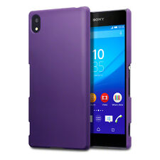 Genuine High Impact Rubberised Case Micro Thin Bumper Purple Sony Xperia Z3 PLUS