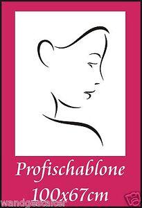 Schablone-Wandschablone-Wandschablonen-Stencils-Modernart-Frauengesicht-4