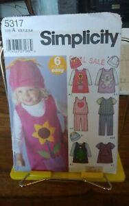 Oop-Simplicity-6-made-easy-5317-toddlers-jumper-top-pants-skirt-hat-sz-6m-4-NEW