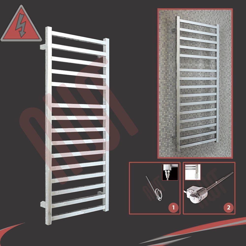 500mm (l) x 1165mm (h) préremplie électrique  BLOODLINE  chrome porte-serviettes design