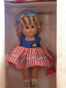 Vogue-Doll-034-GINNY-for-president-034-2000-8-034-curls-red-striped-dress-BRAND-NEW-IN-BOX