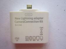Iphone 6 Apple Lightning Convertor Adaptor to USB,SD.TF Card for Camera/Keyboard