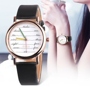 Women-Girl-Colorful-Leather-Band-Stainless-Steel-Watch-Analog-Quartz-Wrist-Watch