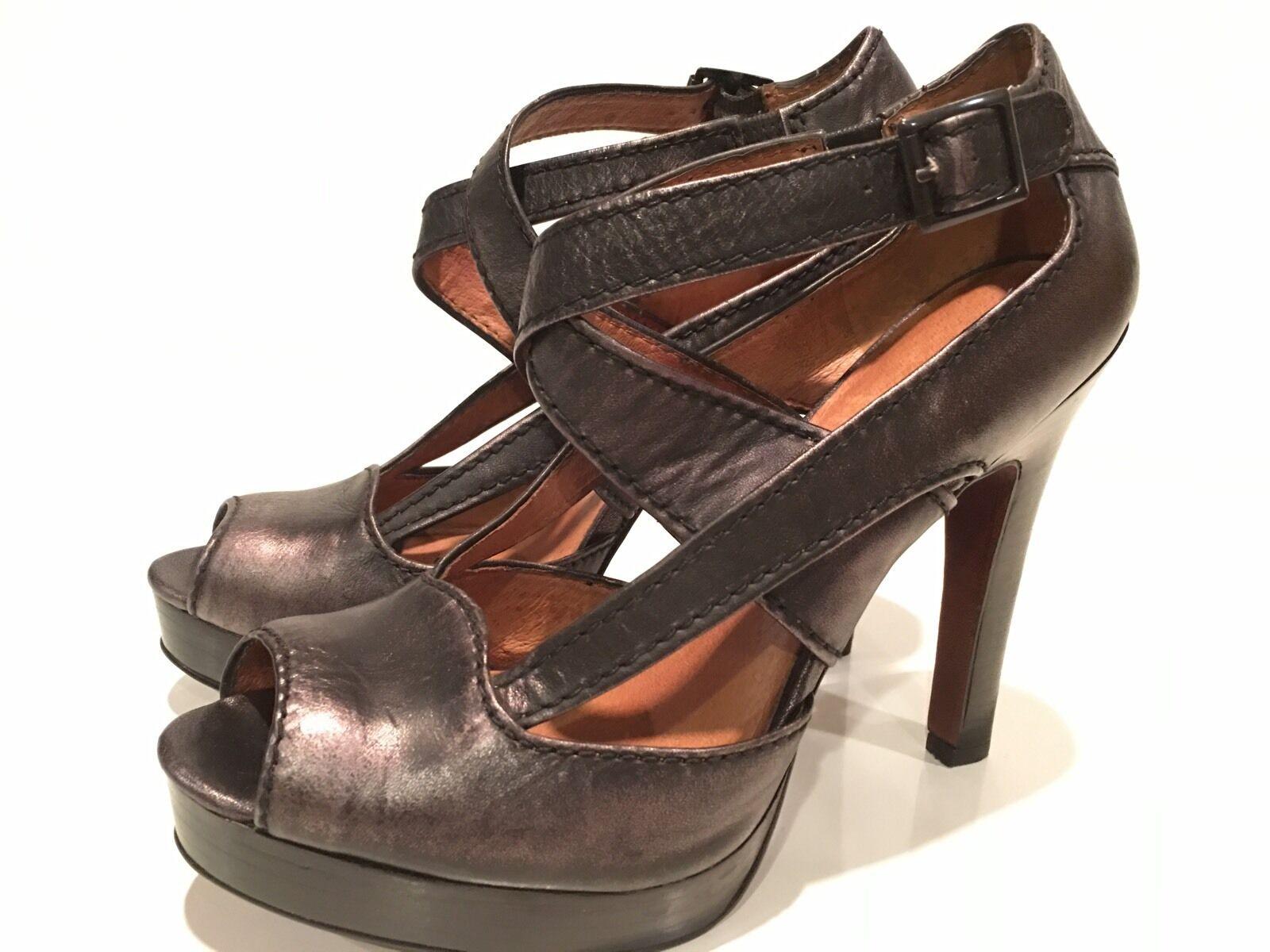 No. 704 b. Jocelyn Women's Strappy Heels 39 Leather Platform Shoes Size 39 Heels e1e71b
