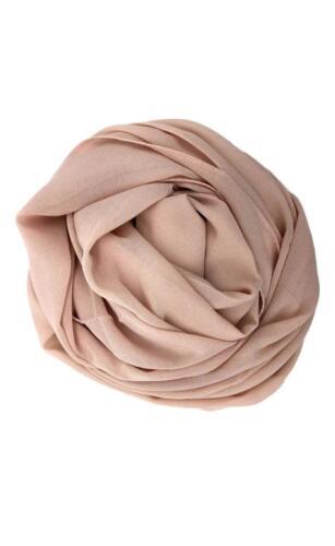 Chiffon Schal Hijab Hochwertig Elegant Sarong Umhängetuch Einfarbig Maxi Weich
