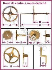 roue de centre et de chaussee pour mouvement de pendule  / horloge / 61,2 mm