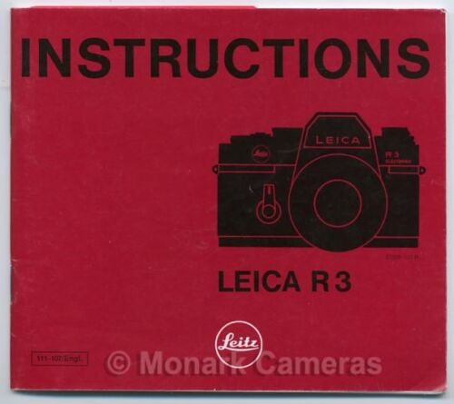 Other Operating Manuals /& Guides Listed Leica R3 Camera Instruction Book
