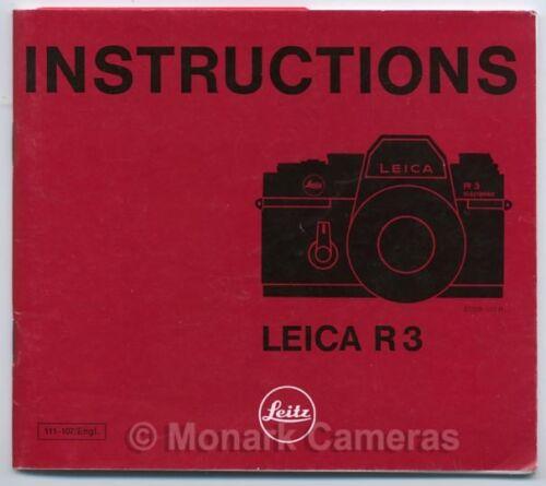 Leica R3 cámara manual de instrucciones otras operaciones manuales y guías en venta