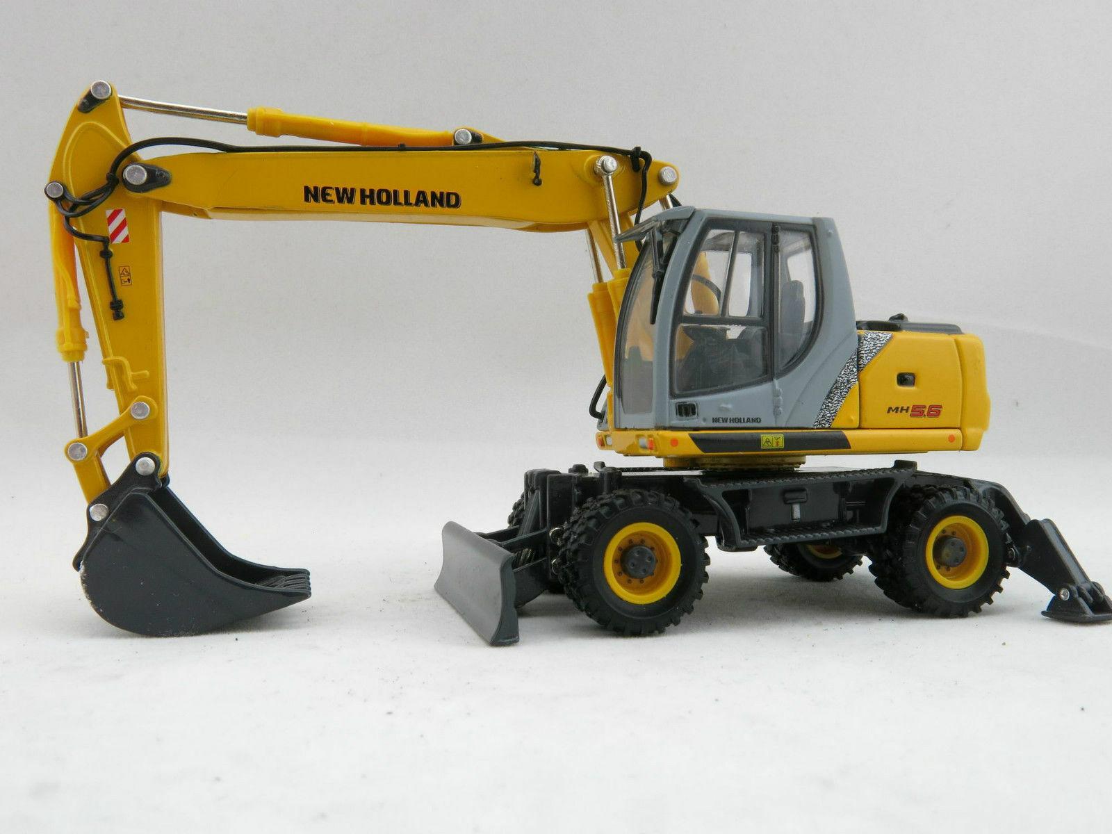 ROS 1 50 MODELLO DIE CAST  ESCAVATORE GOMMATO NEW HOLLAND MH5.6    ART 001916