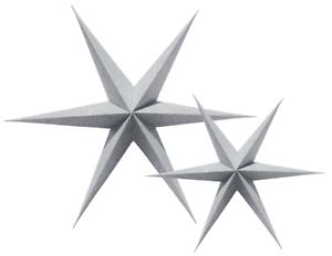 Weihnachtsdeko Papiersterne.Details Zu 2er Set Papiersterne Silber Glitzer Silver Stern Star Weihnachtsdeko Shabby Xmas