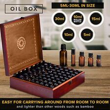 Beautiful Essential Oil Box 69-Bottle- Holds 5-10-15-30ML 1oz & 10ml Roll Ons