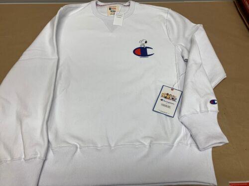 Champion X Peanuts Snoopy Chillin C Men/'s Sweatshirt ~ Men/'s Large Todd Snyder